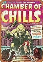 2個 20 * 30 CMメタルサイン-Chamber of Chillsコミック#06 メタルプレート レトロ アメリカン ブリキ 看板
