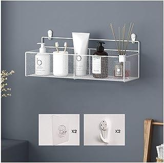 Étagère d'angle Douche Douche étagères fer salle de bains étagère de rangement rectangulaire Support mural for Caddy Porte...