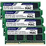 Timetec Hynix IC 32GB KIT(4x8GB) Compatible for Apple DDR3 1333MHz PC3-10600 for iMac (Mid 2010 27 inch, Mid 2011 21.5/27 inch) MAC SODIMM Upgrade   MAX RAM Upgrade for iMac 11,3 iMac 12,1 iMac 12, 2