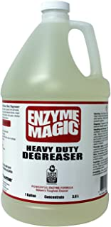 ENZYME MAGIC Heavy Duty Degreaser; Industrial Strength to Clean Grease, Oil & Stains of Concrete, Decks, Floors, Tools, Auto Parts. Non-Toxic ((1) 1gal Concentrate Bottle)
