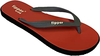 fipper Wide Natural Rubber Thongs Red Black Grey Men's Sizes