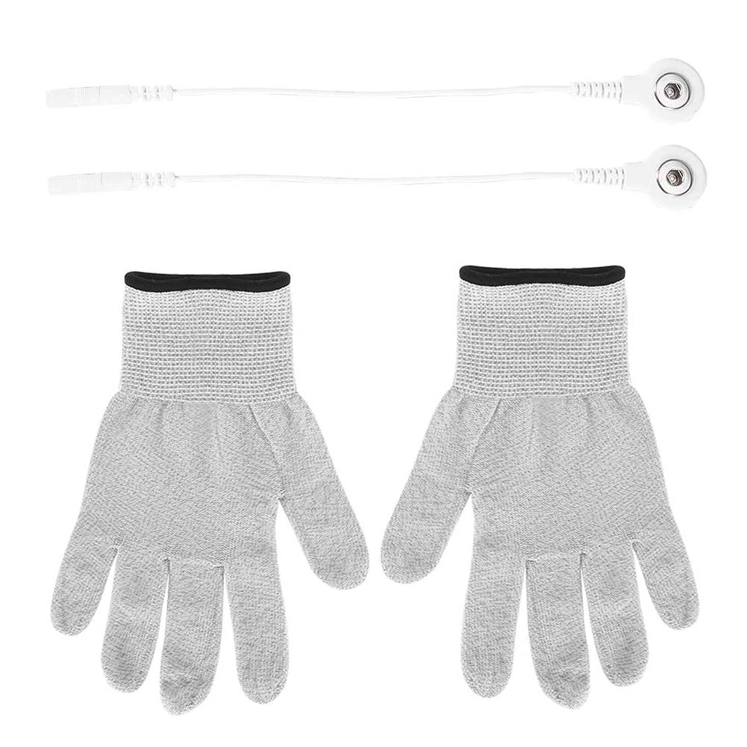 四回世界記録のギネスブック転倒1組 電極 手袋繊維 電気衝撃療法 マッサージ 手袋電気衝撃繊維 脈拍療法 マッサージ 伝導性 手袋
