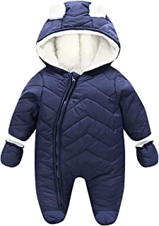 Happy Cherry Unisex Toddler Kids Jumpsuit Infants Winter Hooded Snowsuit
