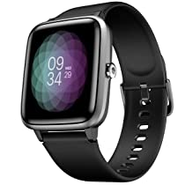 Noise ColorFit Pro 2 Full Touch Control Smart Watch with 35g Weight & Upgraded LCD Display,IP68 Waterproof,Heart Rate Monitor,Sleep & Step Tracker,Call & Message Alerts & Long Battery Life (Jet Black)