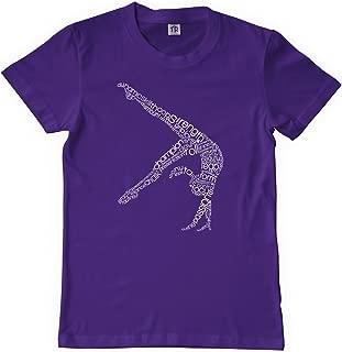 Big Girls' Gymnast Typography Design Youth T-Shirt