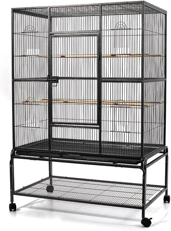i.Pet 140cm Play Top Pet Bird Cage con ruote per Parrot Cockatos Macawas -Black