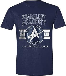 Star Trek Ex-Astris Scientia Hombre Camiseta Azul Marino