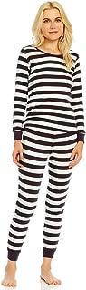 Women's Pajamas Fitted 2 Piece Pjs Set 100% Organic Cotton Sleep Pants Sleepwear (XSmall-XLarge)