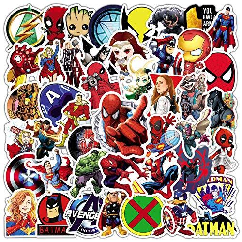 WYDML Iron Man Spider-Man Doodle Sticker Equipaje Laptop Casco PVC Sticker 50Pcs