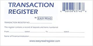 10 Checkbook Registers with 2020-2021-2022 Calendars by Easy Read Register, Pack of 10