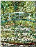 WZRY Claude Monet HD Cuadros de Nenúfares Pared Art Pintura al óleo grande tamaño pared cuadros (60 x 80 cm))