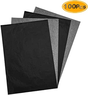 Newbested 200PCS Carbon Transfer Paper For Wood, Paper, Canvas and Other Art Surfaces(8.5 x 11 Inch), Black.