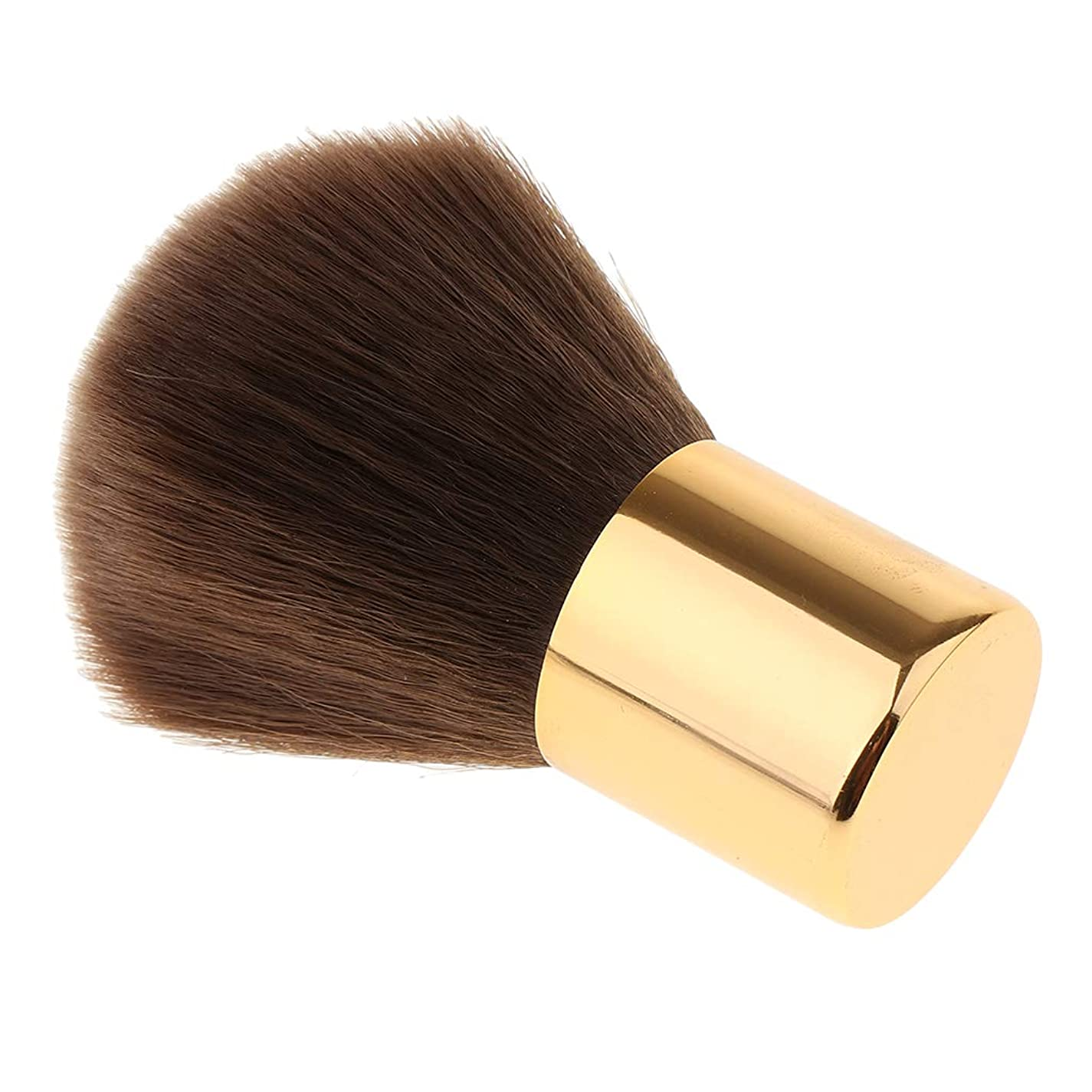 やめるマウス香りSM SunniMix ネイルブラシ ネイルダストブラシ ネイルデザイン用 全2色 - ゴールド