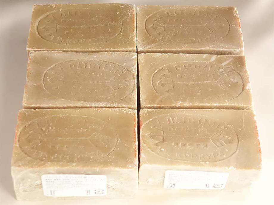 化石ホバーこどもの宮殿パトーニス?ギリシャの石鹸 グリーン6ヶセット
