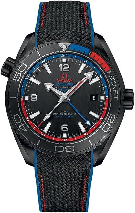 Orologio seamaster planet ocean automatico orologio da uomo quadrante nero 215.92.46.22.01.004 omega