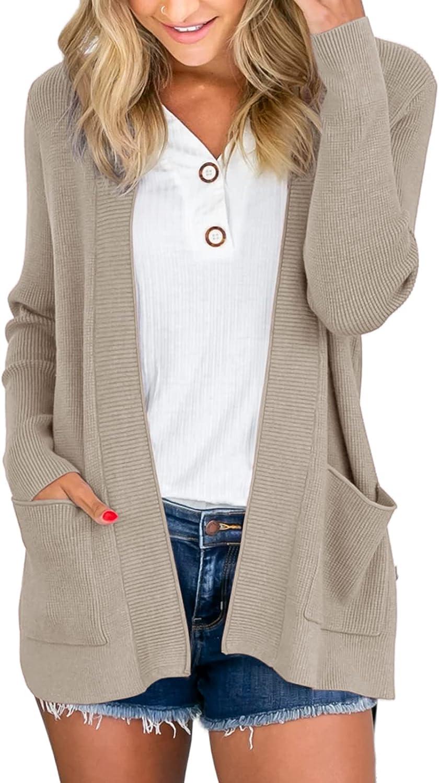 Max 45% OFF Tutorutor Womens Open Front Cardigans shipfree Sleeve Soft Long Swe Loose