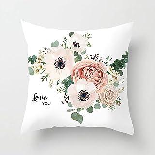 Amody Almohada Funda de Cojín, Funda de Cojines 45x45cm Love You Flores Fundas de Cojín para Jardín, Patio, Balcón y Sofá Style 5