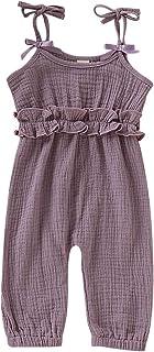 Kids Newborn Infant Baby Boys Girls One Piece Romper Clothes Jumpsuit Ruffled Halter Bodysuit