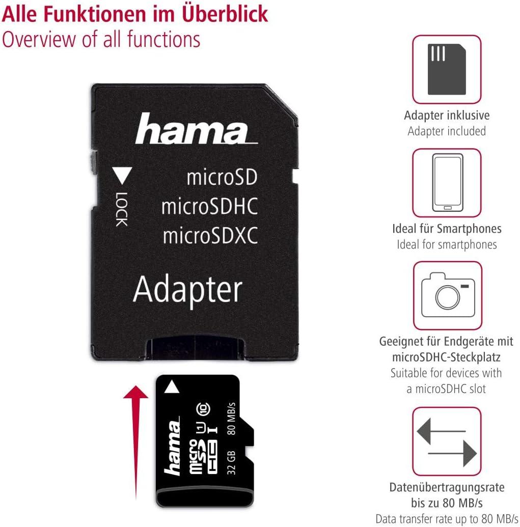 Hama Microsd Microsdhc Microsdxc Karte 256gb 80mb Computer Zubehör