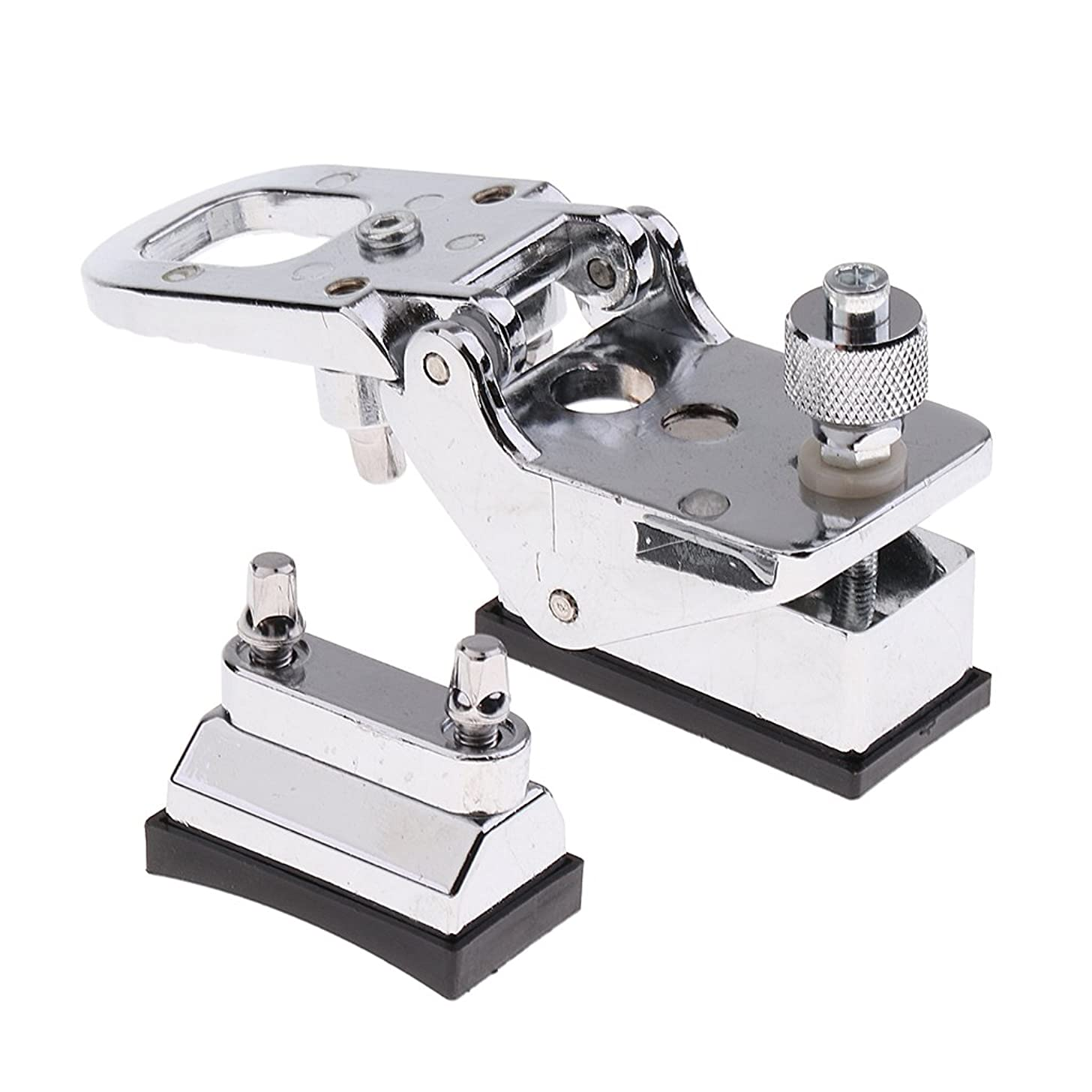 Homyl Adjust Drum Clamp Holder Cymbal Holder Clamp Musical Instrument Parts Silver 2.17x1.18x2.17inch