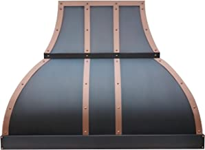 Copper Kitchen Oven Hood Comes with Professional Stainless Steel Range Hood Vent Oil Rubbed Bronze Patina Sinda H1STRO