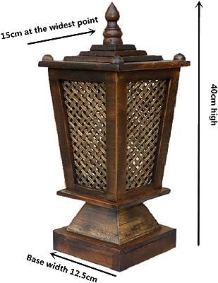 木製 ボタン開閉 安全 ベッドランプ, 柔らかな光 フェードしないでください。 ビンテージ テーブル ランプ テーブルランプ の ベッド バー-a 15x40cm(6x16inch)