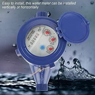 Dn15 Water Meter,Cold Wet Water Flow Gauge Meter Measuring Tool, Portable Garden Home Cold Water Single Table Meter