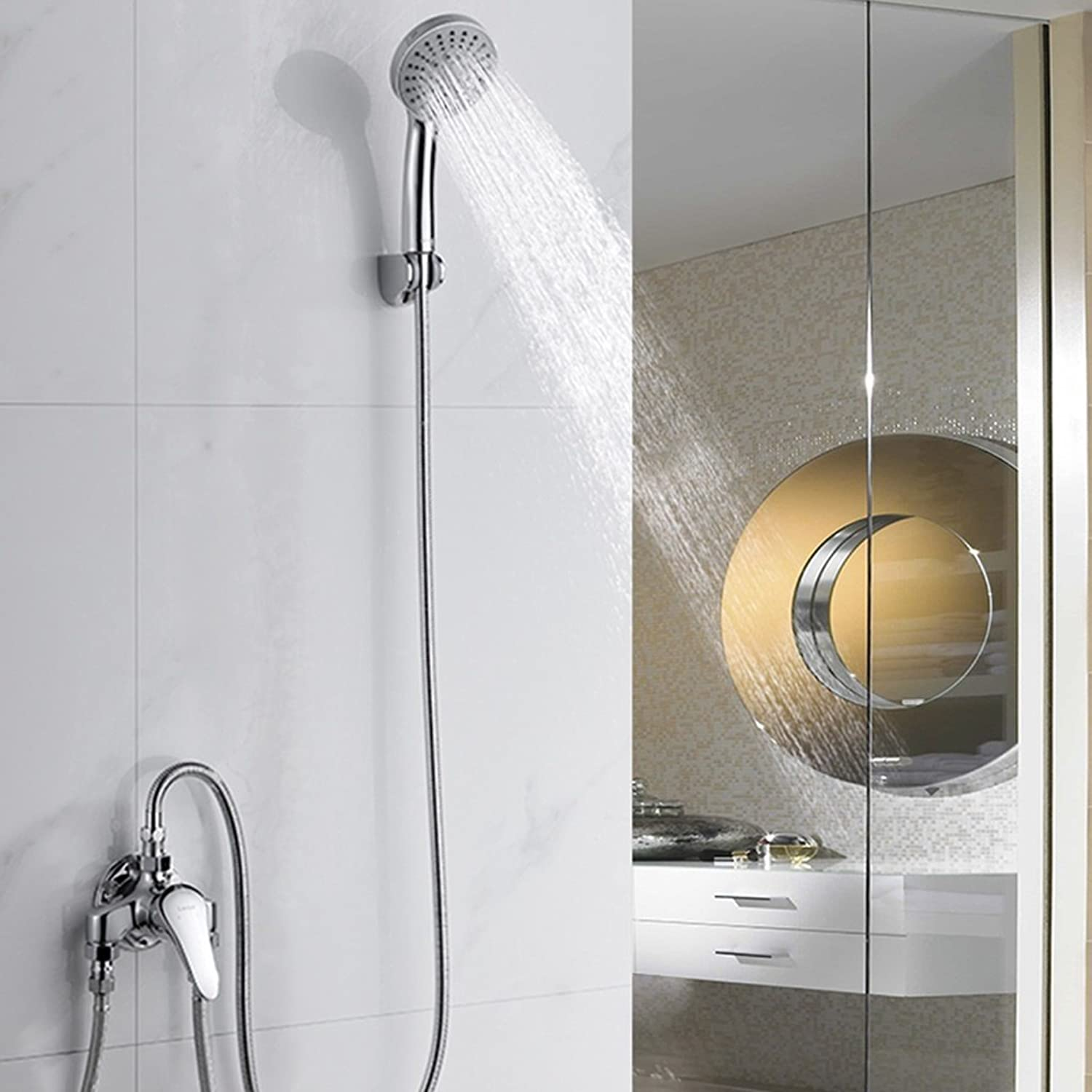 A Shower set hot and cold faucet full copper mixed water shower shower
