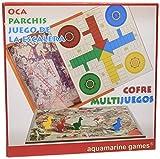 Aquamarine Games - Cofre Oca, parchís y Escalera, Set de Juegos (Compudid CP010)