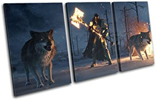 Bold Bloc Design - Destiny Rise of Iron XBOX ONE PS4 Gaming 120x60cm TREBLE Canvas Art Print Box Framed Picture Wall Hanging - Hand Made In The UK - Framed And Ready To Hang