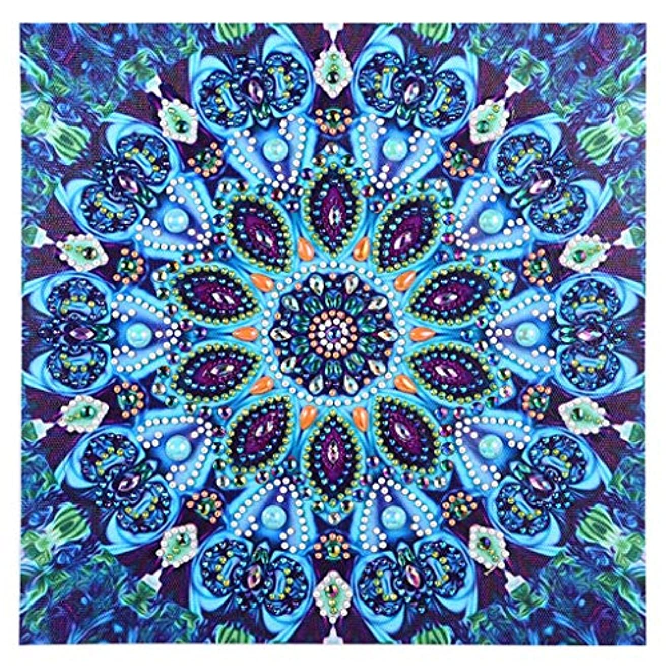 DIY 5D Diamond Painting by Number Kits Embroidery Painting for Wall Decor (Special Shaped Diamond,Mandala 5)