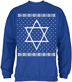 Big Star of David Ugly Hanukkah Sweater Mens Sweatshirt