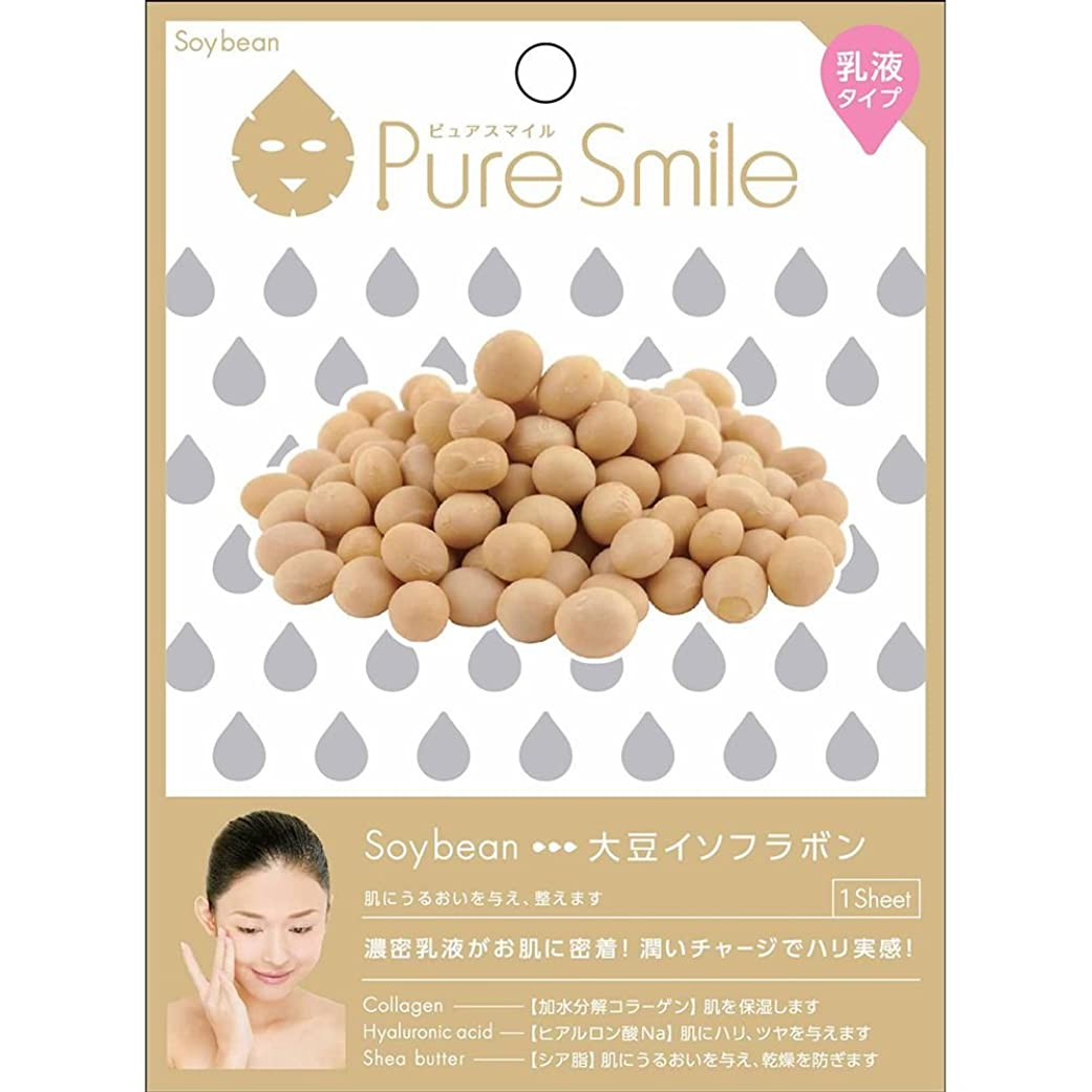 備品古いフォーラムPure Smile(ピュアスマイル) 乳液エッセンスマスク 1 枚 大豆イソフラボン