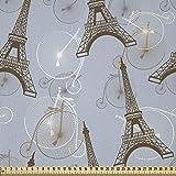 ABAKUHAUS Eiffel Stoff als Meterware, Retro Fahrräder
