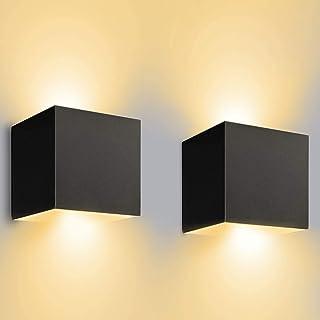 comprar comparacion LEDMO 12W*2 Aplique Pared LED Interior/Exterior Blanco Cálido 3000K 1000lm Lamparas Pared Led IP65 Impermeable Led Lámpara...