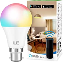 LE WiFi Smart Bulb B22, Works with Alexa, Google Home and IFTTT, Colour Changing, Dimmable LED Bayonet Bulb, No Hub Required (9W = 60W, 850lm, RGB and White 2700K - 6500K, 2.4GHz Wi-Fi)