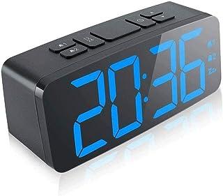 WMMCM Alarme Creative Horloge numérique Horloge électronique Horloge Muet Étudiant Chevet Horloge avec Chargeur USB 150 * ...