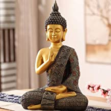 HYBAUDP Statues Buddha Statue in Thailand, Meditation Statue Lucky Buddha Statue, Religious Supplies, Home Decoration, Tow...