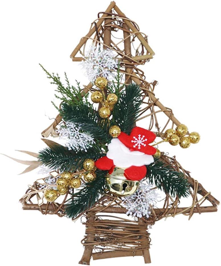LUOZZY Christmas Tree Wreath Pendant Pine Simulation Hangin Daily bargain sale Industry No. 1