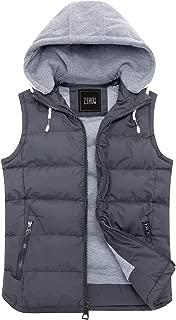 ZSHOW Men's Winter Removable Hooded Padded Vest
