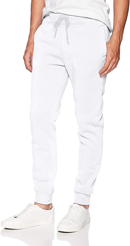 WT02 Men's Basic Jogger Pants X-Large Selling White Max 72% OFF Fleece