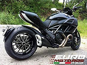 Ducati Diavel 2011-2014 Zard Exhaust Steel Silencer Black Muffler Road Legal