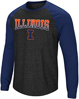 Mens Illinois Fighting Illini Long Sleeve Raglan Tee Shirt