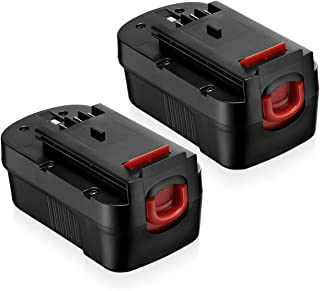 2 Pack HPB18 Battery 3.7Ah Ni-Mh Replacement for Black and Decker 18V Battery HPB18-OPE FSB18 Cordless Power Tools 244760-00 A1718 Firestorm