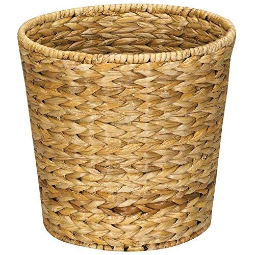 Wicker Waste Basket - Bathroom Office Woven Trash Can Wicker Round Waste Bin Basket Storage Organizer Wastebasket