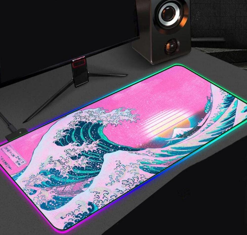 Great Wave Landscape Trust RGB Mouse Pad PC De Computer Gamer New York Mall Notebook