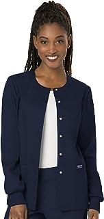 CHEROKEE womens Snap Front Warm-up Jacket Snap Front Warm-up Jacket