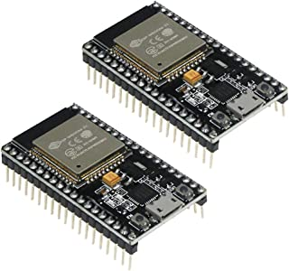 KeeYees ESP32 ESP-32S 開発ボード デュアルコア 2.4 GHz WiFi + Bluetoothデュアルモード対応 ESP-WROOM-32モジュール内臓 マイクロコントローラ (2個入れ)