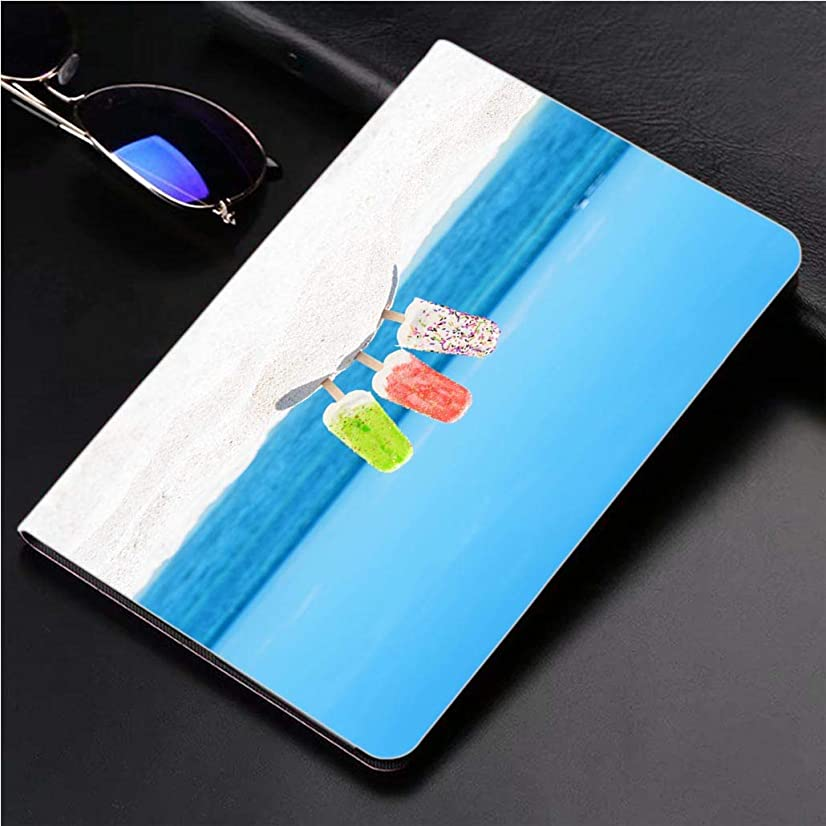 Compatible with 3D Printed iPad Pro 10.5 Case Colorful ice Cream Popsicles on The Beach 360 Degree Swivel Mount Cover for Automatic Sleep Wake up ipad case