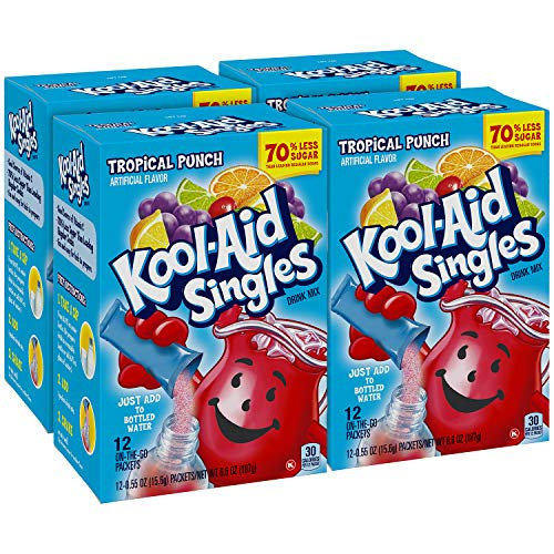 Kool-aid Singles Tropical Punch 12-0.55 OZ Packets (Pack - 4)
